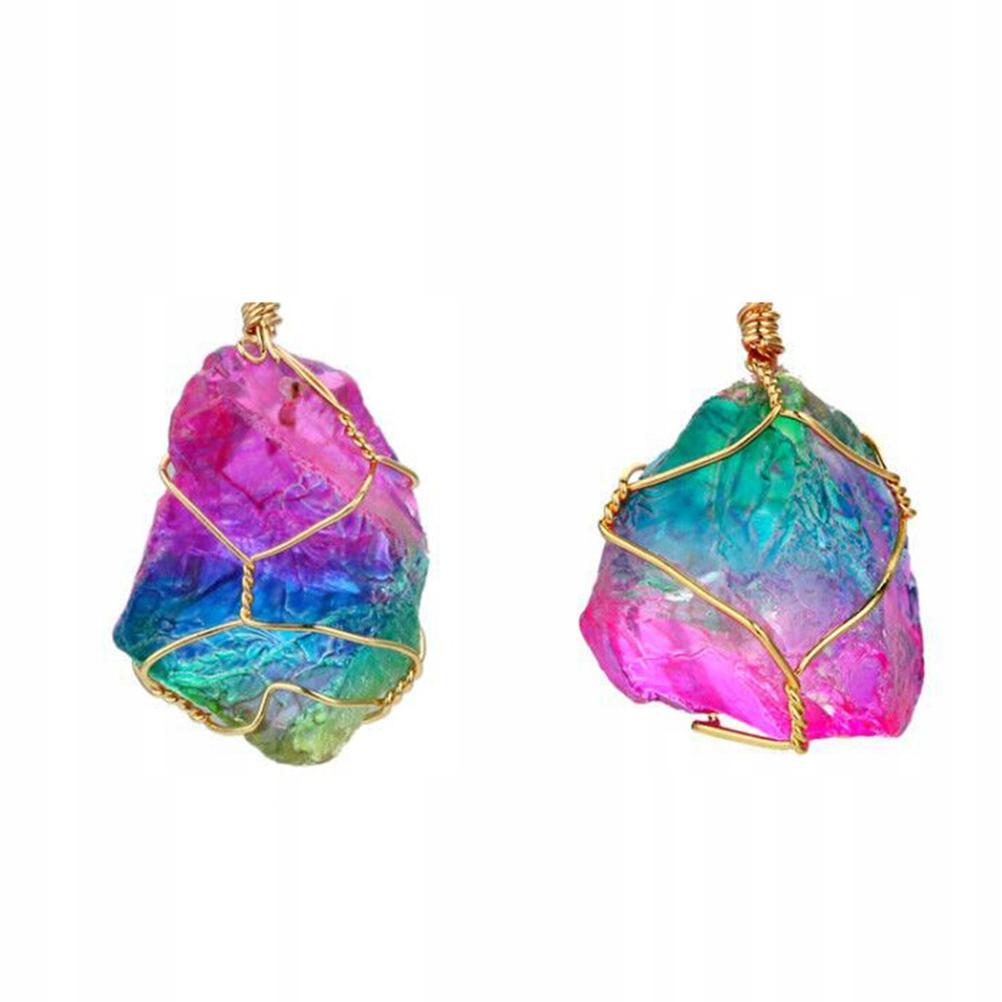 1 Pair of Raw Gemstone Earrings Colorful Ear Dangl