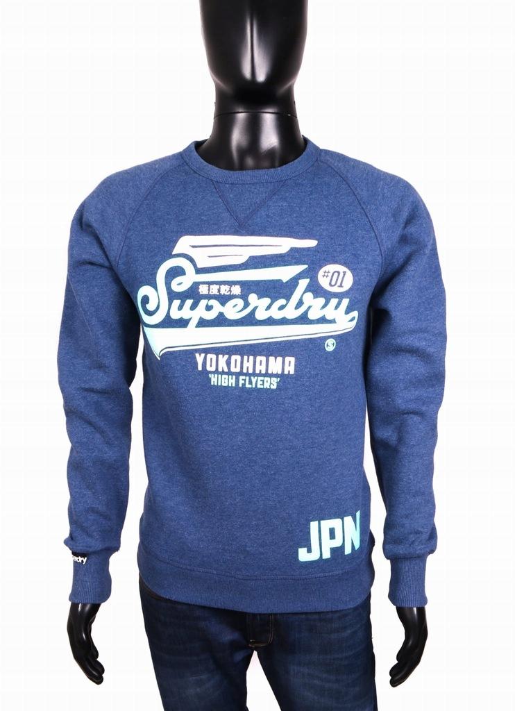*Superdry State Bluza Męska Oldschool Granat r S