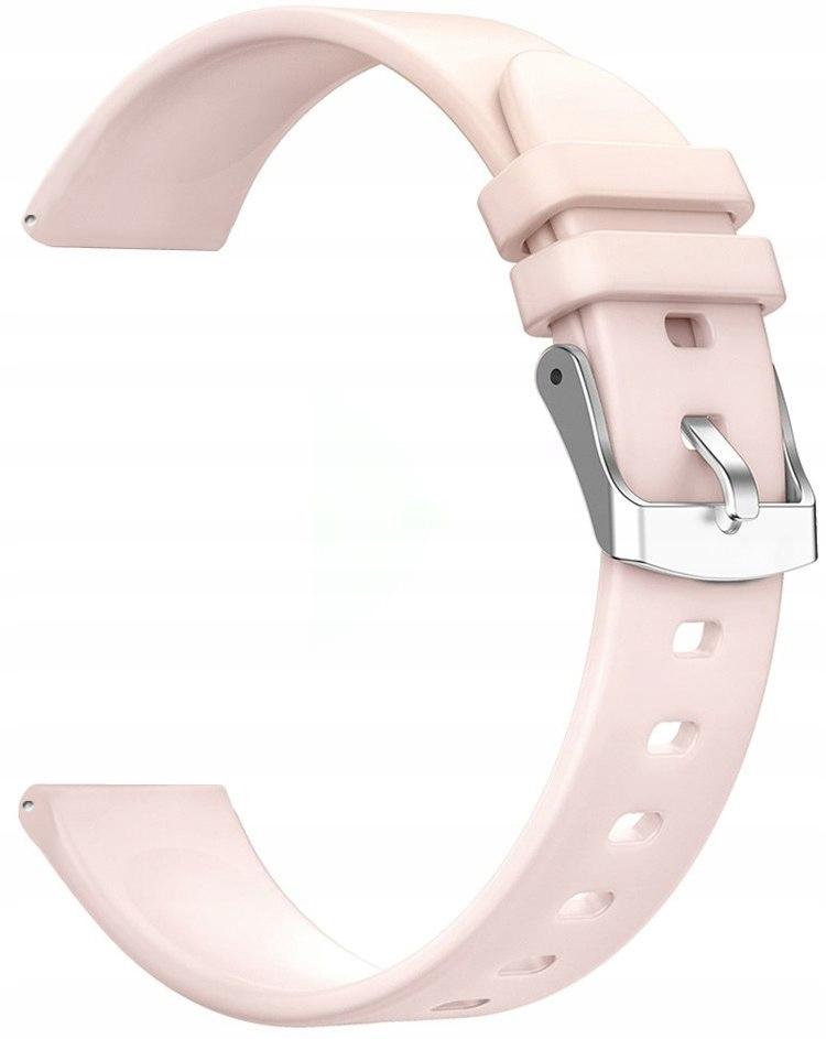 Pasek do Smartwatch 20 mm RÓŻOWY RNCE42 SW009 KW17