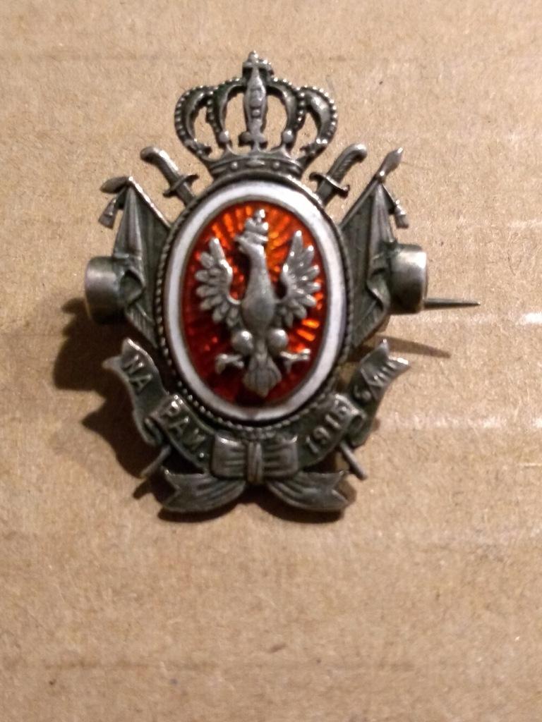 ODZNAKA NA PAMIĄTKĘ 6 VII 1915 ORZEŁ W KORONIE