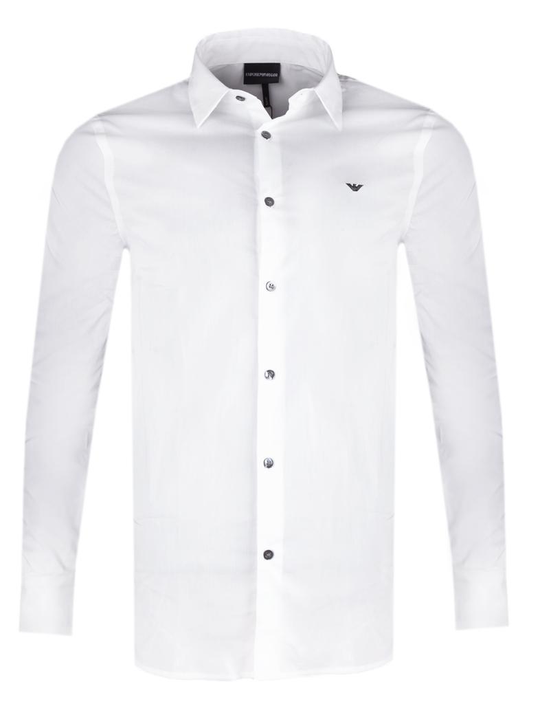 EMPORIO ARMANI stylowa włoska koszula NOWOŚĆ BIAŁA