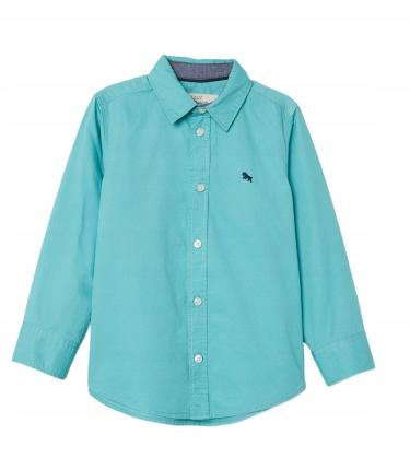 H&M koszula bawełniana turkusowa 104