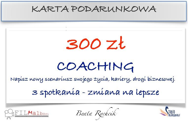 Karta podarunkowa - coaching - 3 spotkania