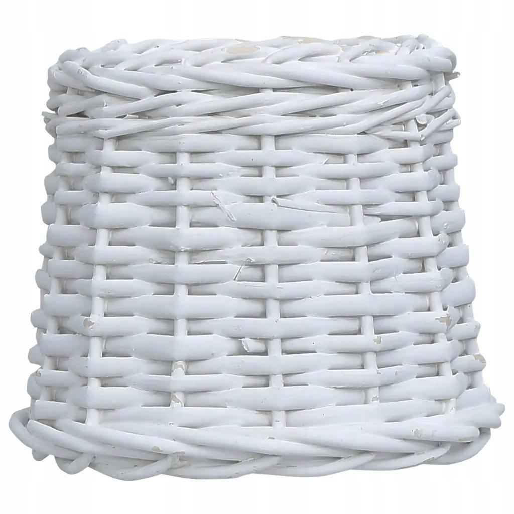 Wiklinowy Klosz Do Lampy 25 x 17 cm Biały