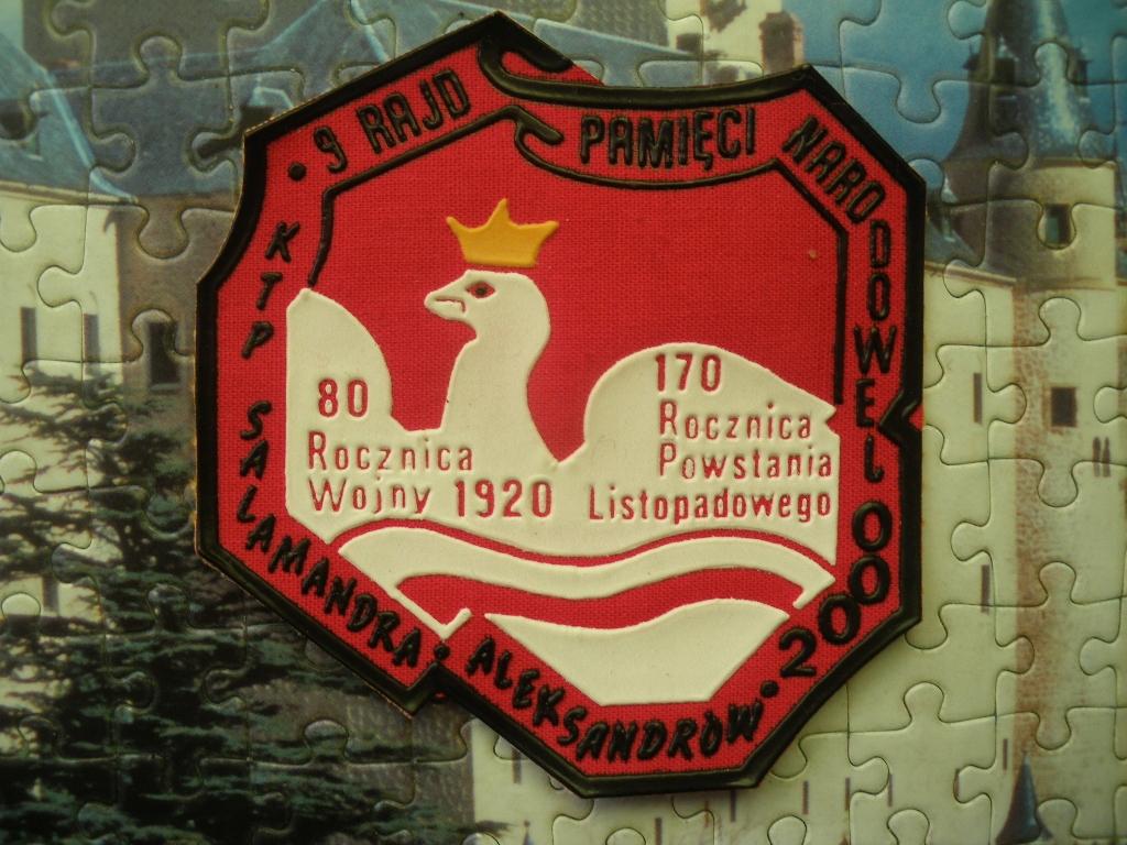 2000 Aleksandrów 9 Rajd Pamięci Narodowej Naszywka