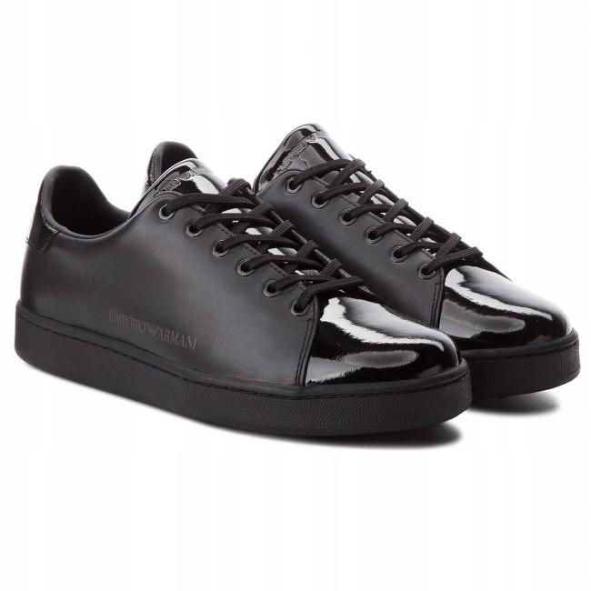Buty Damskie Armani Jeans Czarne Sneakersy rozm.40