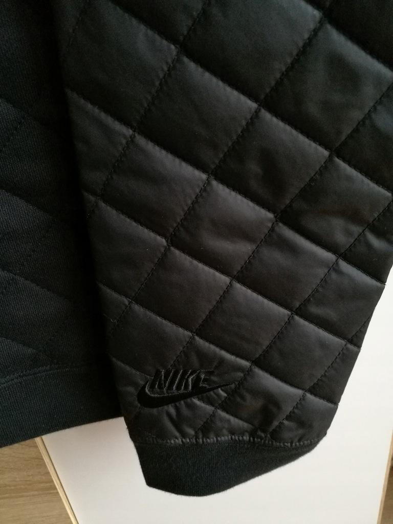 Nike bluza Winterized Crew pikowana czarna+wysyłka