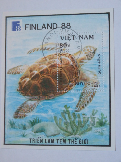 Wietnam - bloczek - żółw