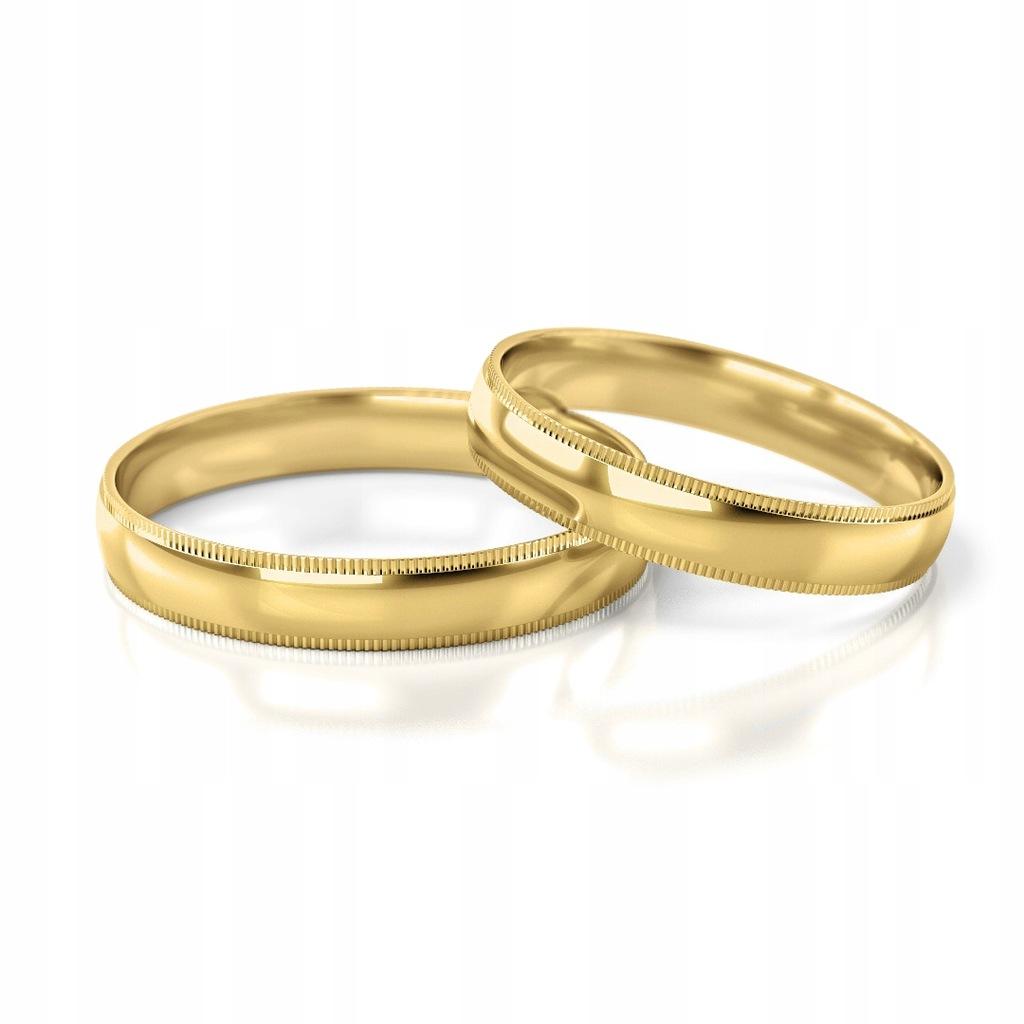 Złote obrączki ślubne 290 ST pr.333