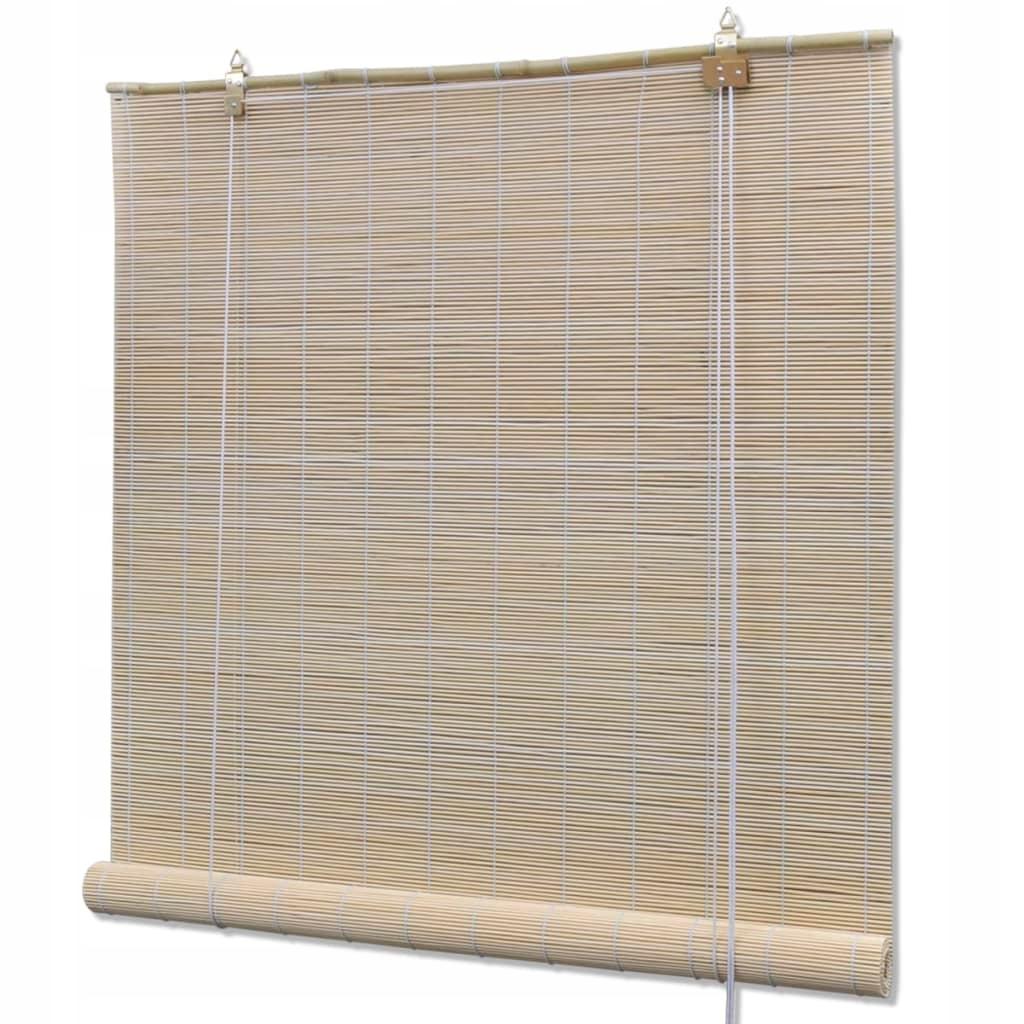 Rolety bambusowe, 140 x 160 cm, naturalne