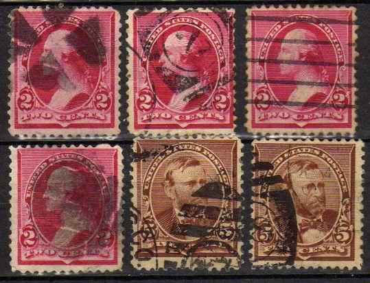 USA - nr 90,93 - 1894 r. - kasowane