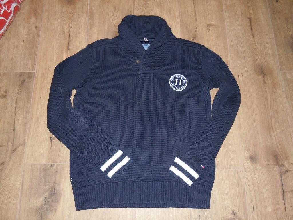 TOMMY HILFIGER granatowy sweter r .L BDB