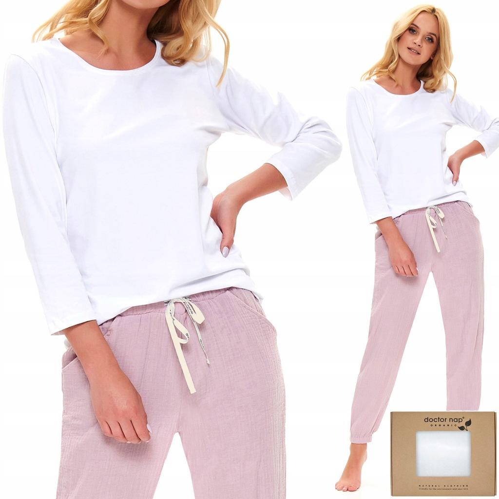 Spodnie piżamy Doctor Nap Homewear miękki muślin