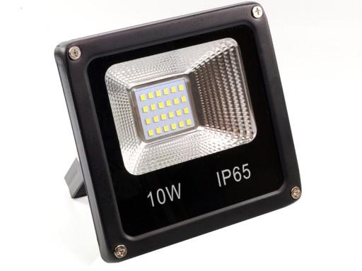 Halogen LED SLIM 10W IP65/66 cert CE CIEPŁY vn18