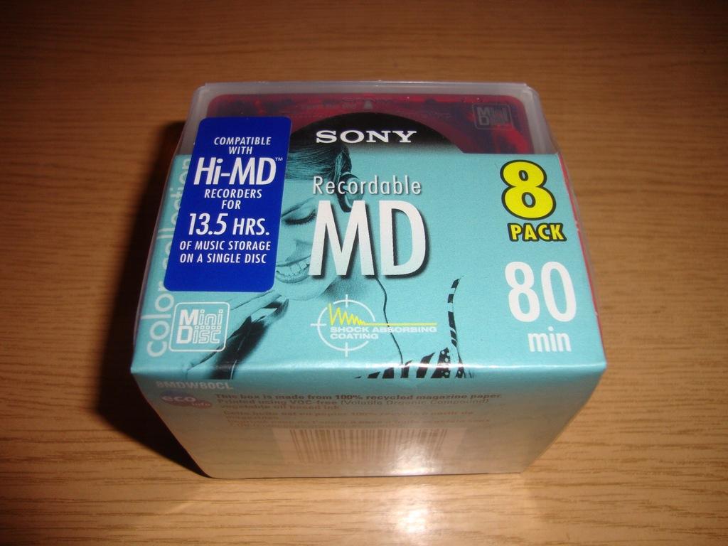 8 x Mini Disc SONY Hi-MD compatible 80