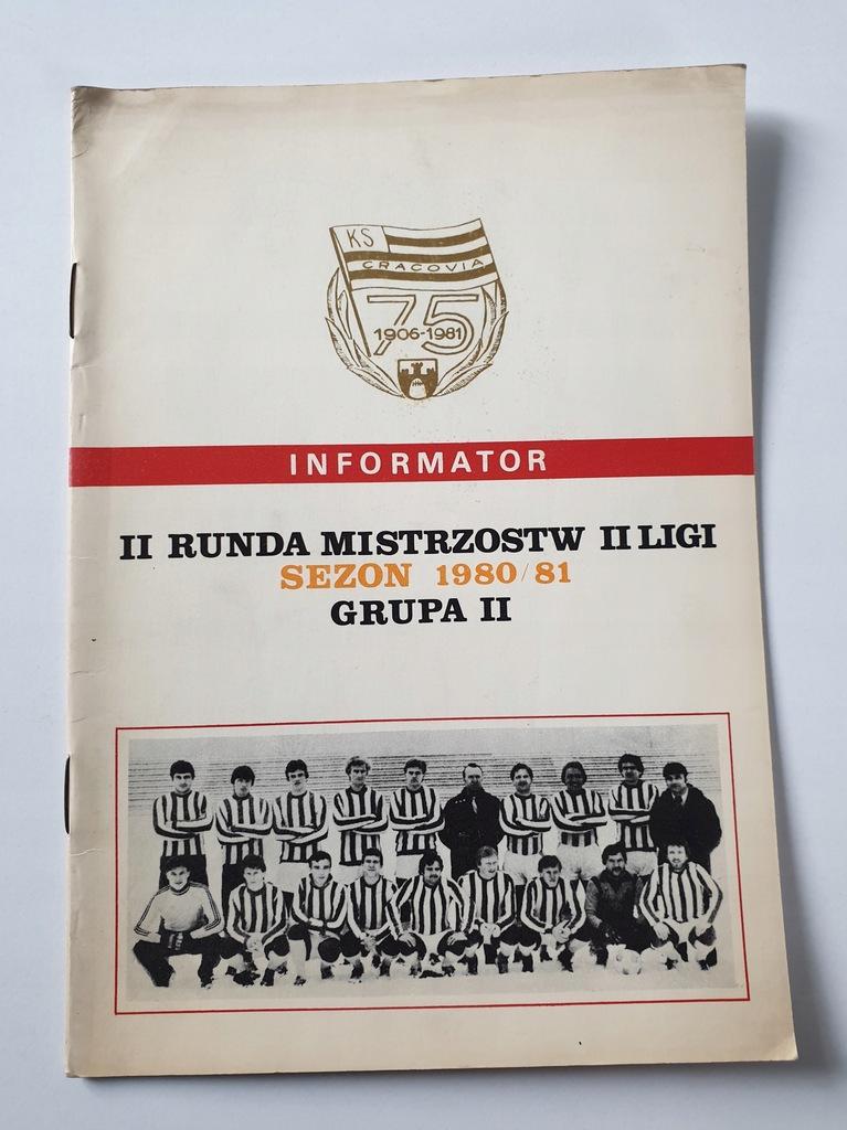 PROGRAM CRACOVIA KRAKÓW SEZON 1980/81