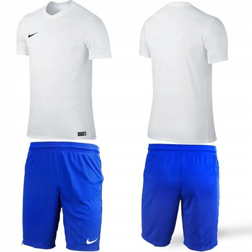ZESTAW Niebieska Koszulka + Spodenki NIKE PARK - S