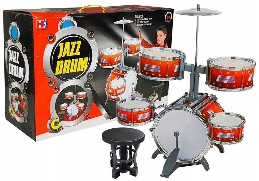 Duża Perkusja 5 Bębnów Talerz Instrument Dziecięcy