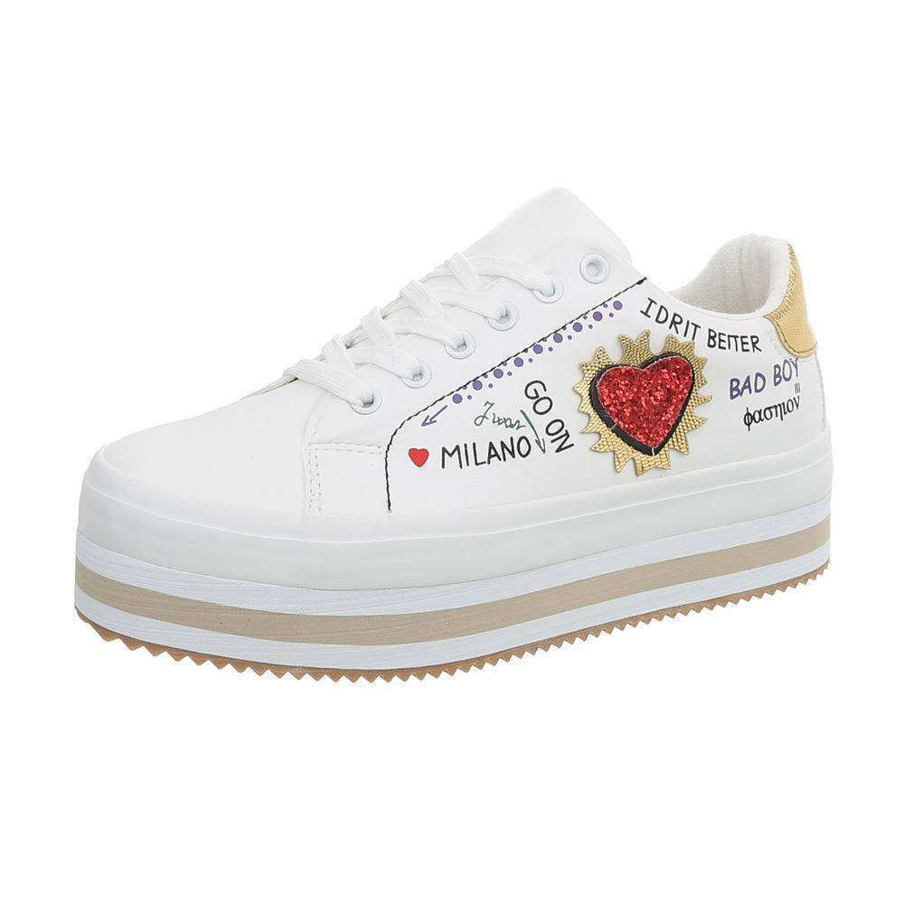 Buty sportowe,sneakersy z napisami.Białe, złote 39