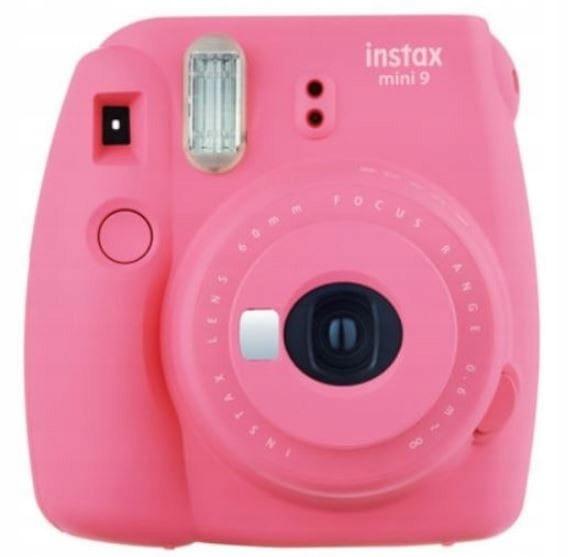 Fujifilm Aparat Instax Mini 9 różowy + ramka + etu