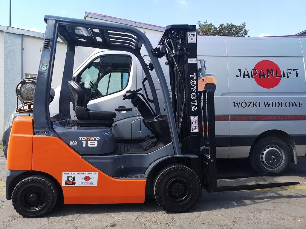 Wózek widłowy TOYOTA 8FGF18 1750 kg, LPG, Leasing