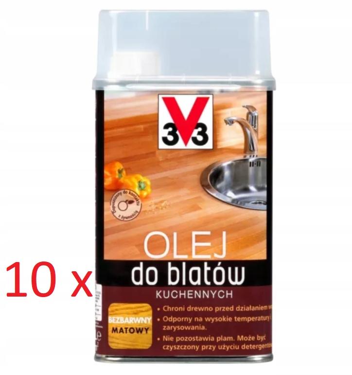 10 X Olej do Blatów Kuchennych BEZBARWNY 0,5L V33