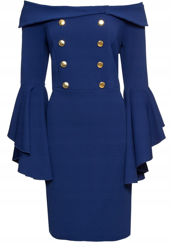 ZJ75 BPC Sukienka z rozkloszowanymi rękawami 48/50