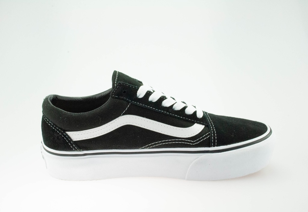 Vans old skool platform sneakersy niskie black white 36