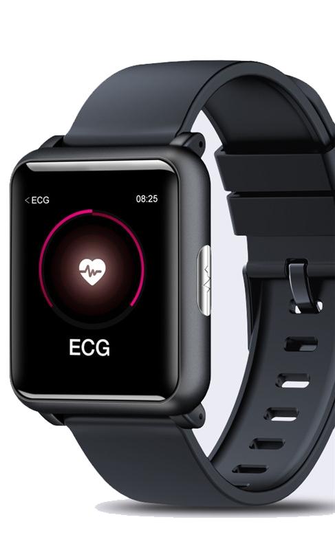 Ciśnieniomierz EKG SMART Zegarek PULS Kroki 24H
