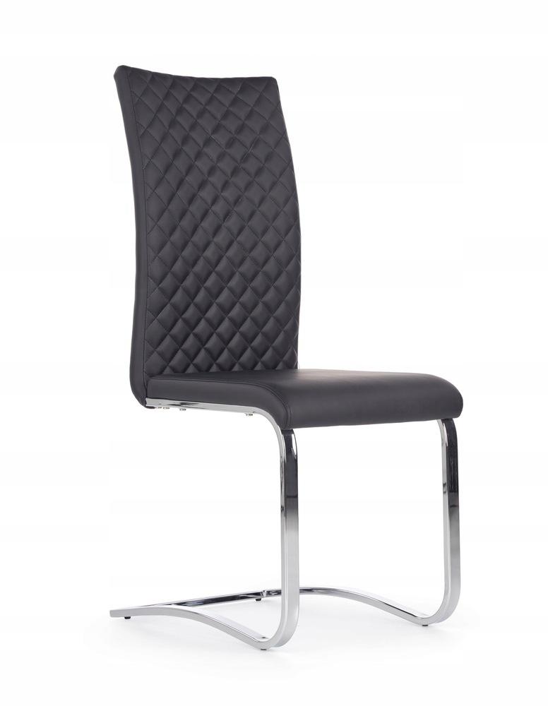 Krzesło K293 czarne eco skóra chrom K-293 HALMAR