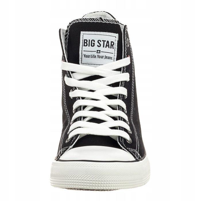Buty Męskie Trampki Big Star T174107 Czarne Długie