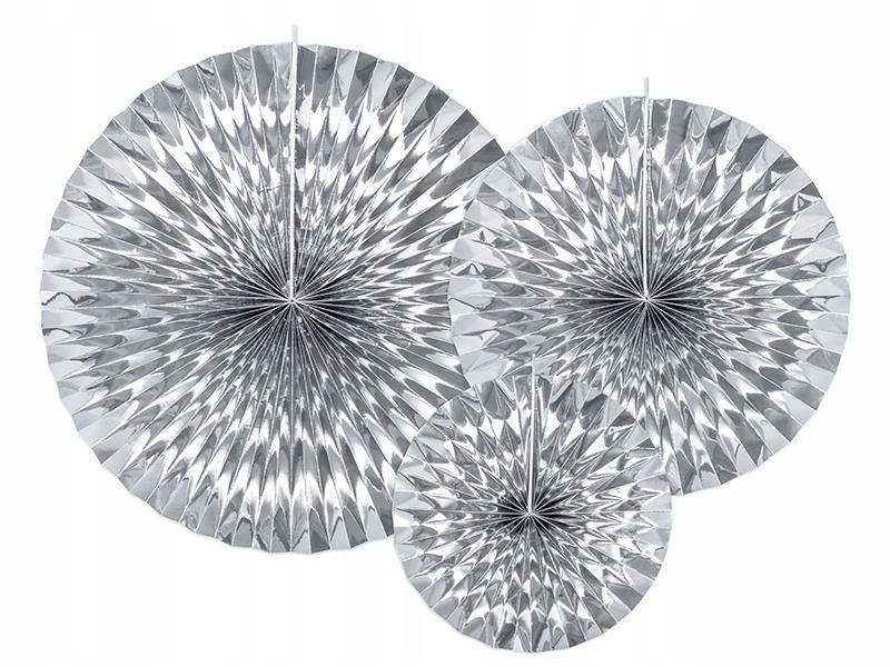 Rozety dekoracyjne, srebrny (1 op. / 3 szt.)
