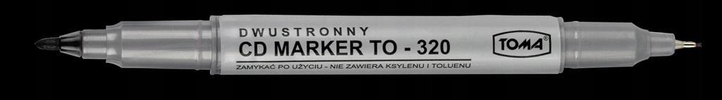 Marker do CD dwustronny czarny (25szt) TOMA