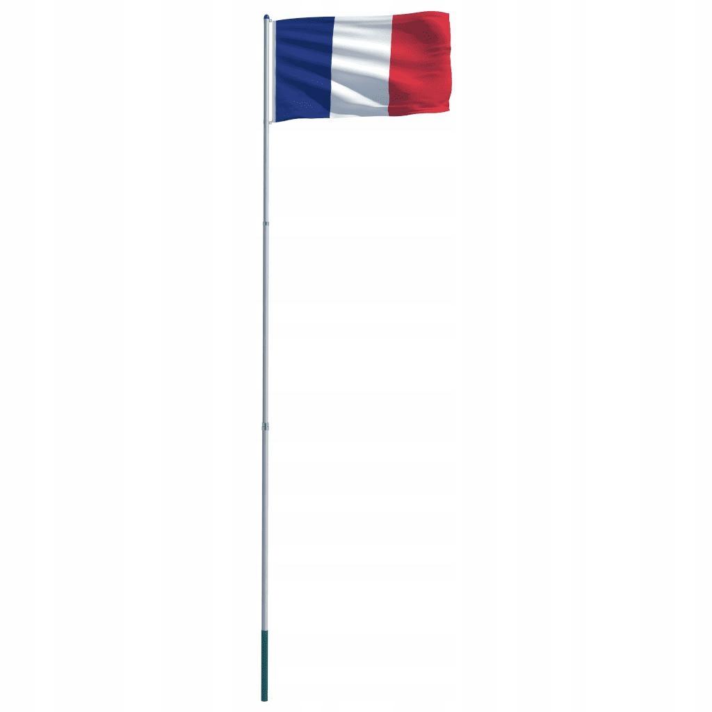 Flaga Francji Z Aluminiowym Masztem 6 m