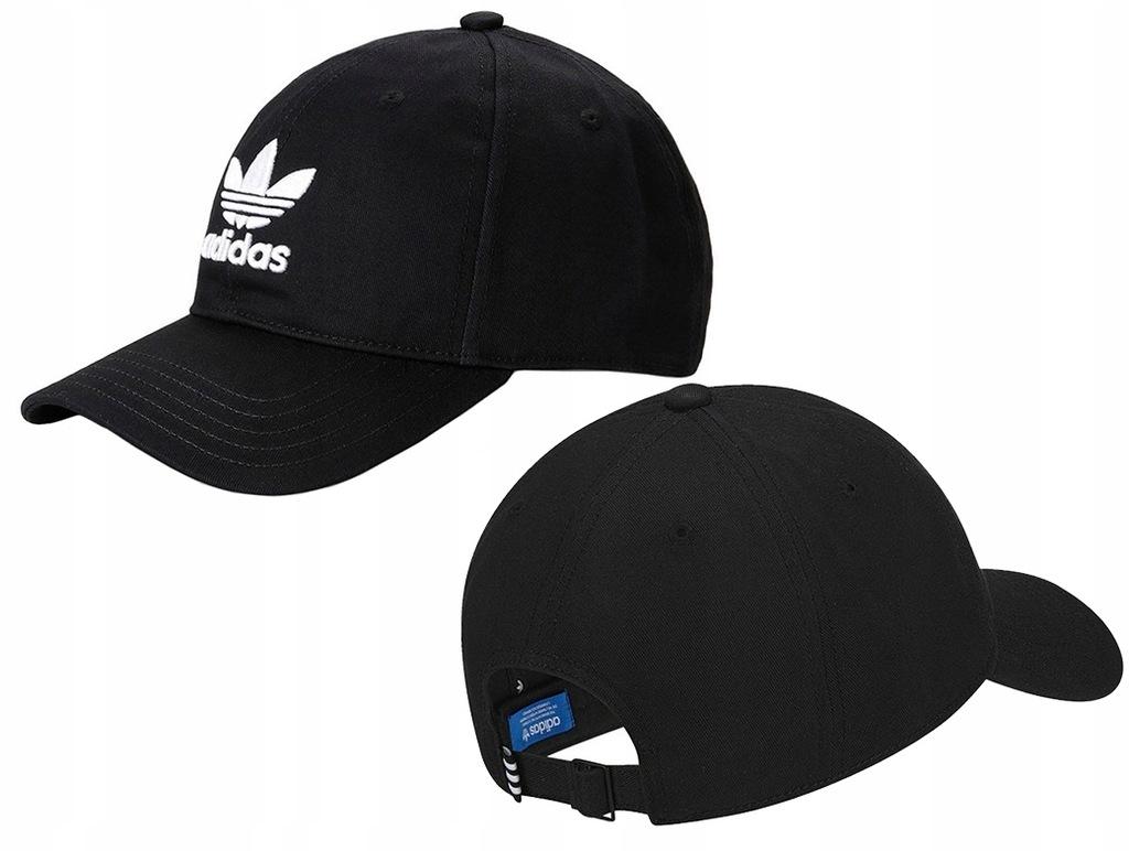 Czapka z daszkiem Adidas Trefoil czarna BK7277