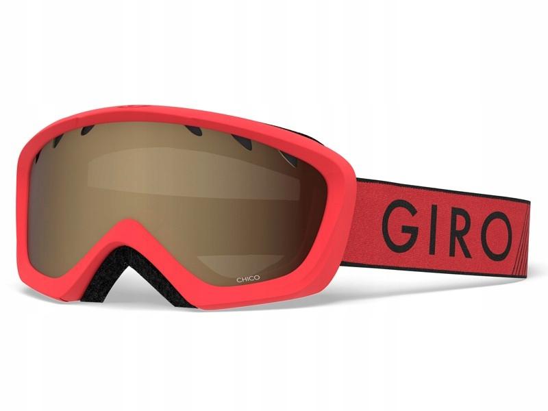 GIRO Gogle zimowe CHICO RED BLACK ZOOM (szyba AMBE