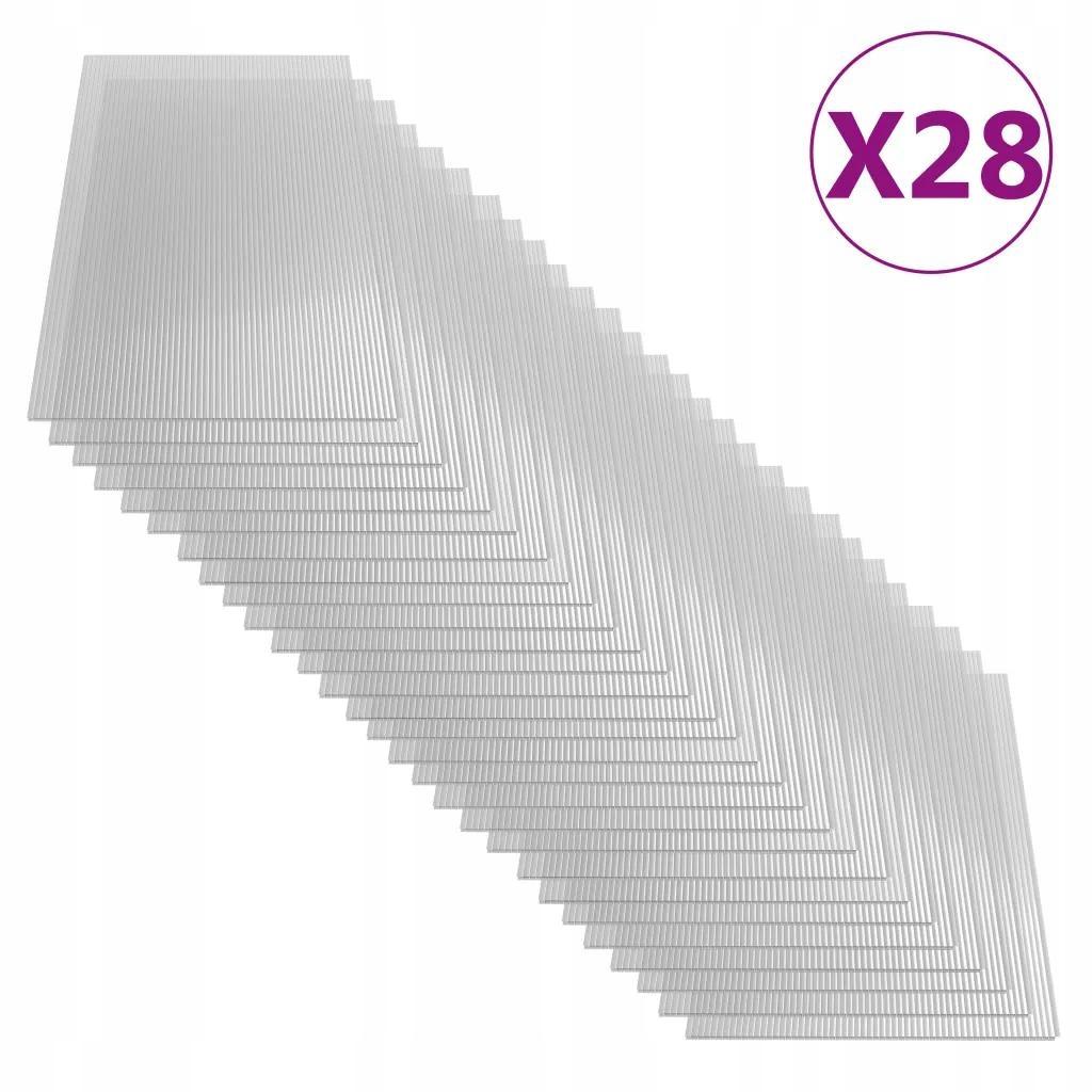 Płyta Poliwęglanowa 28 Sztuk 4 mm 121x60 cm