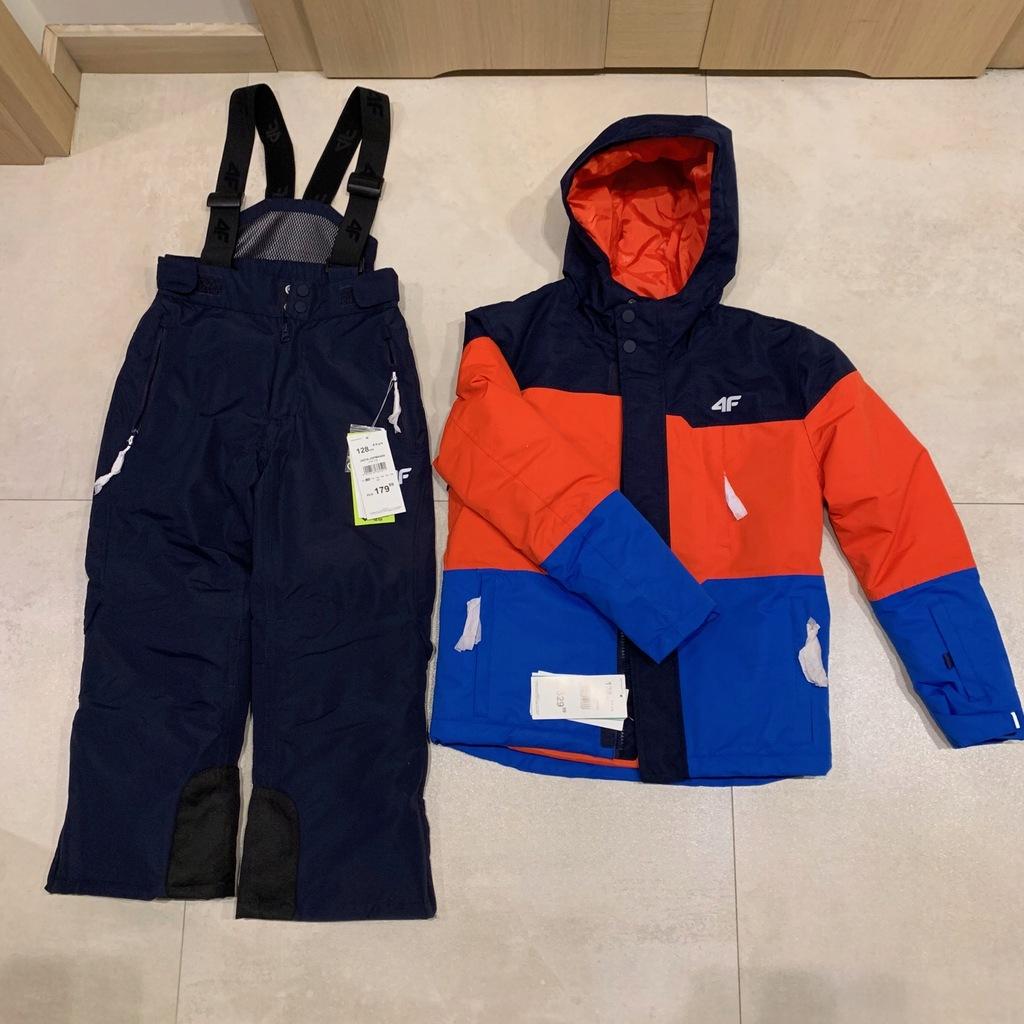 Kurtka spodnie narciarskie 4F komplet 128 nowy