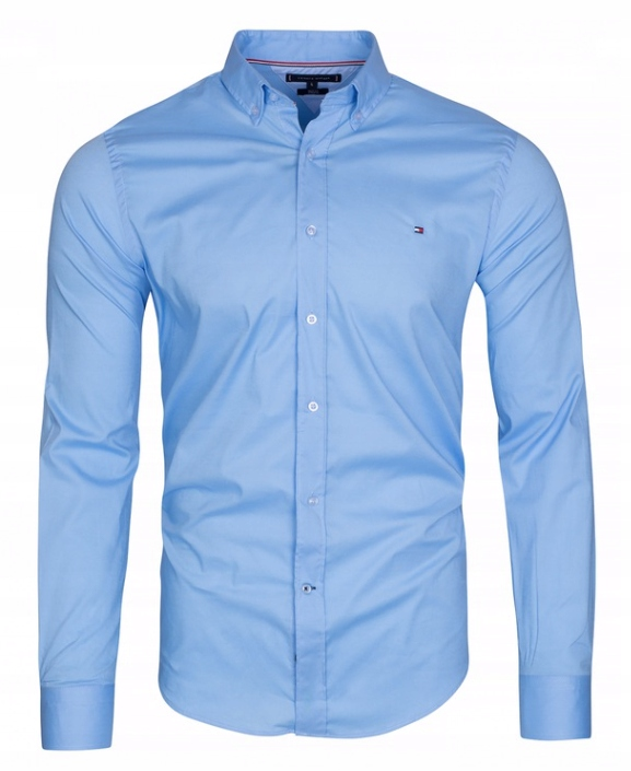 Koszula męska Tommy Hilfiger TH Slim błękitna L