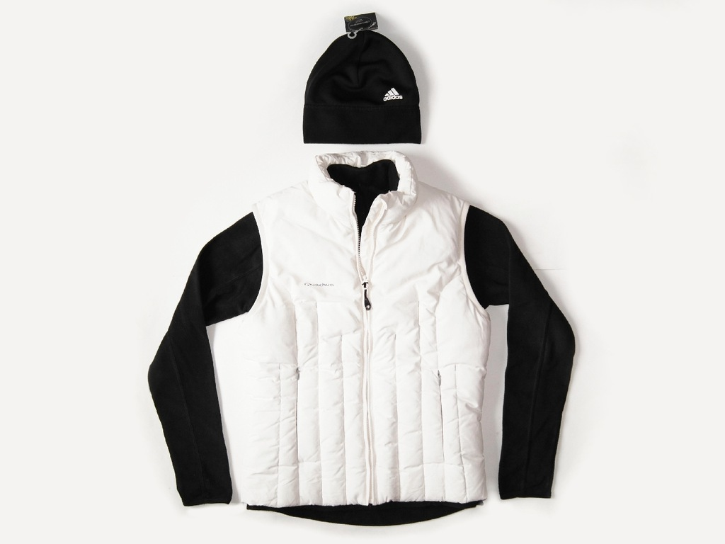 QUECHUA puch bezrękawnik +polar +ADIDAS czapka
