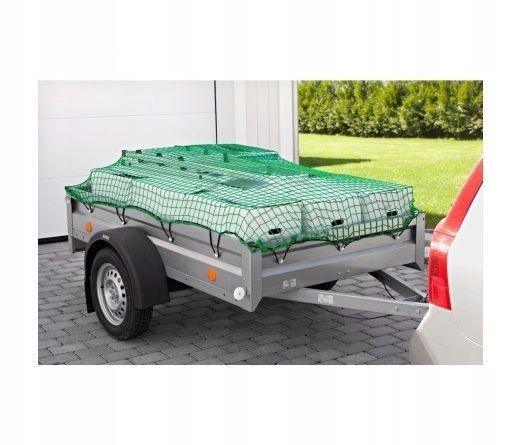 Siatka bagażowa 3,5x2,5m na przyczepę zielona tran