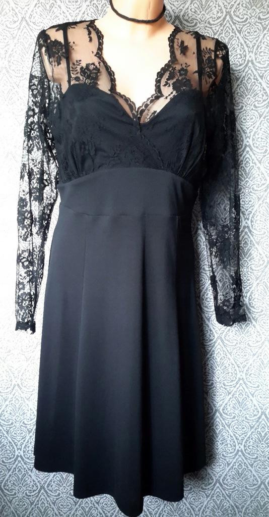 Next czarna wieczorowa suknia z koronką L 14 42