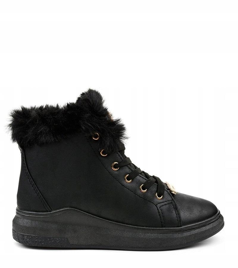 Ocieplane czarne trampki TL135 1 w 2019 | Sneakers