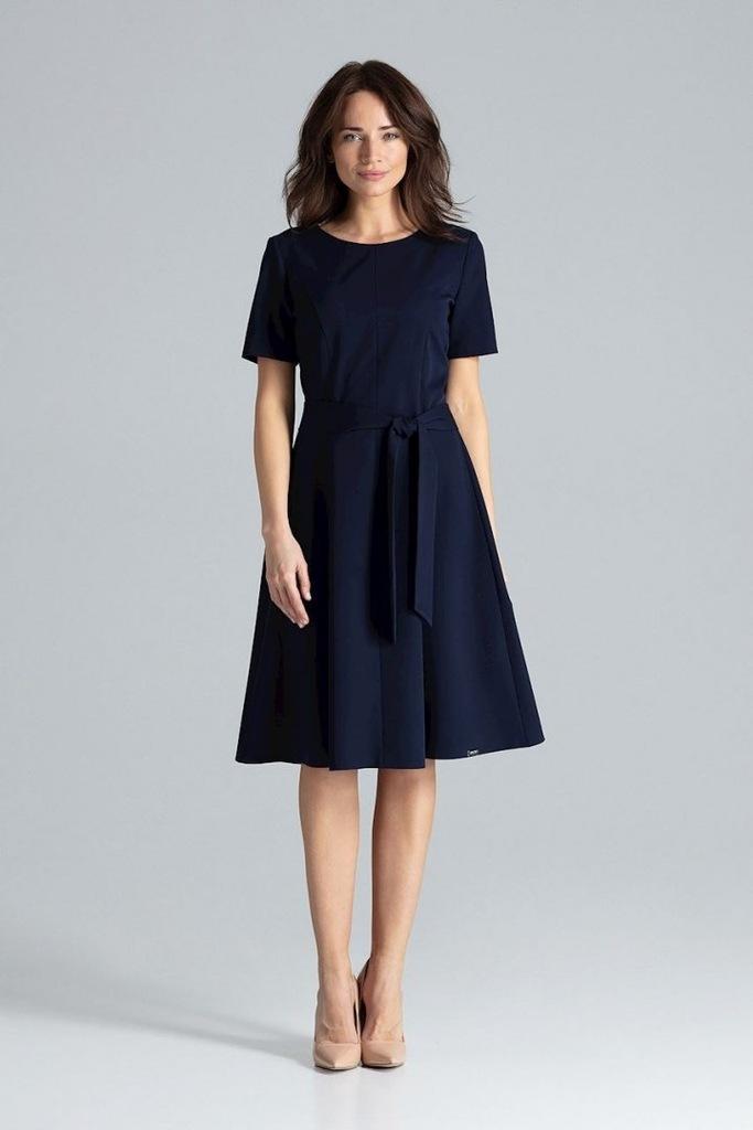 Sukienka L043 Granat S