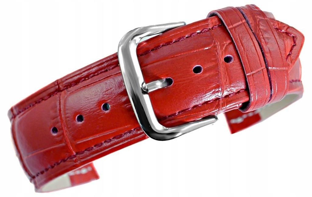 Pasek do zegarka - Skóra 22 mm 22K5 Czerwony
