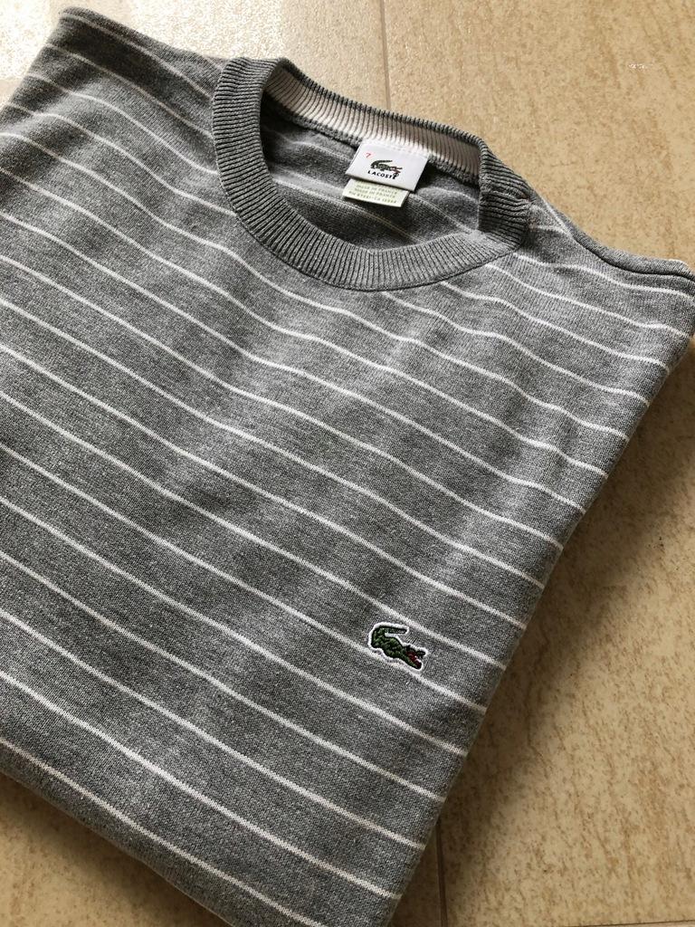 Sweter Lacoste paski rozm 7 XL Wyprzedaż!