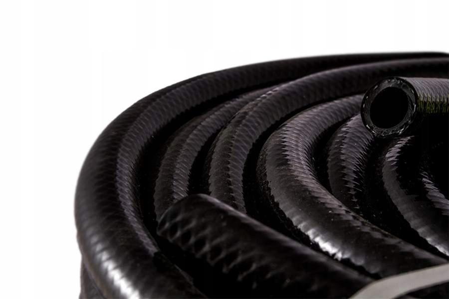 Wąż techniczny zbrojony 12,5*2,5mm CZARNY (50m) A