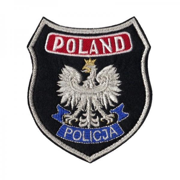 POLICJA Naszywka duża POLAND POLICJI czarna