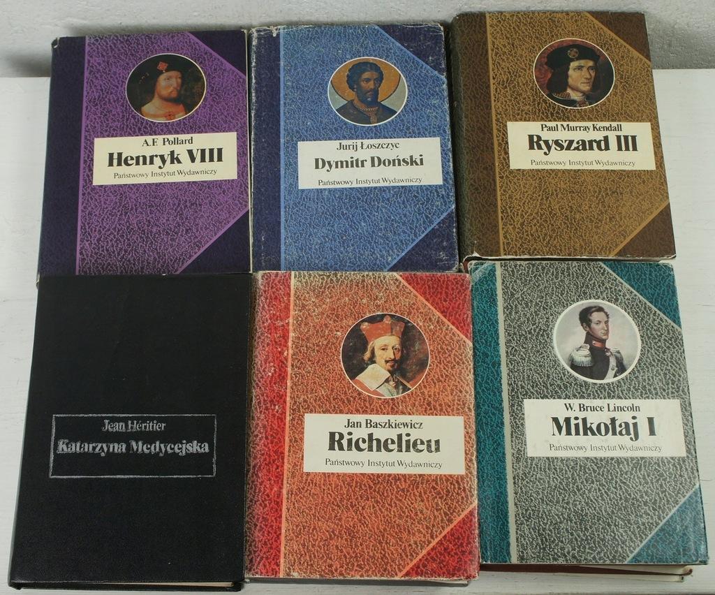 Biografie x 6 książek
