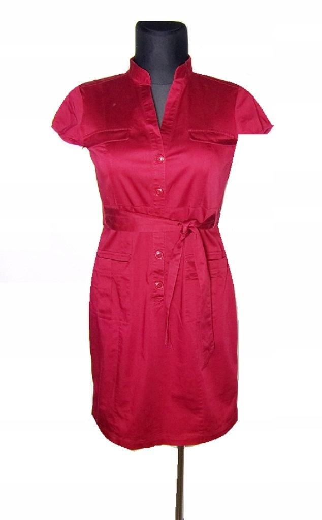H&M sukienka szmizjerka czerwona 4042